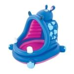Бассейн надувной Bestway, детский, с тентом, красно-синий