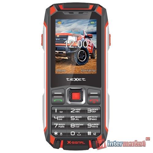 Мобильный телефон Texet TM-515R, черный-красный